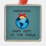 Navidad; El regalo de dios al mundo Adorno Para Reyes