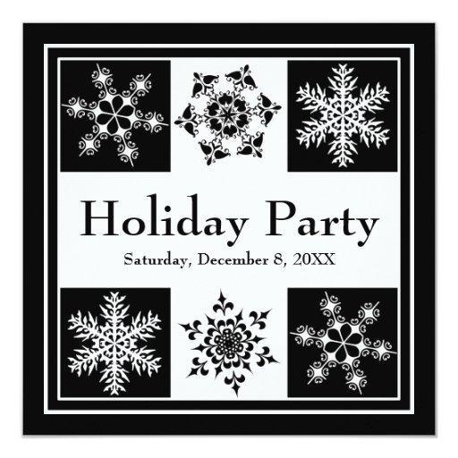 Navidad elegante de los copos de nieve del fiesta anuncio