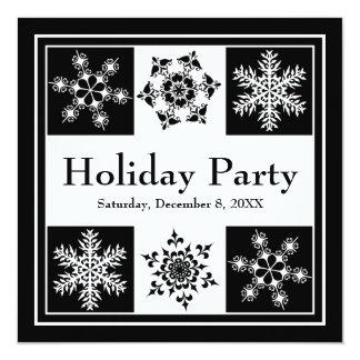 """Navidad elegante de los copos de nieve del fiesta invitación 5.25"""" x 5.25"""""""