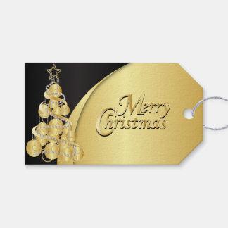 Navidad elegante del negro y del oro etiquetas para regalos