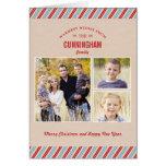 Navidad elegante enviado/tarjeta de felicitación d