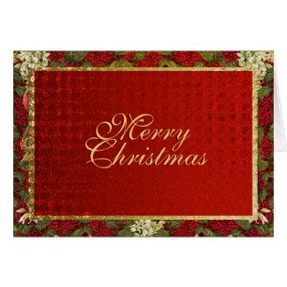 Navidad elegante que saluda Navidad tradicional Tarjeta De Felicitación