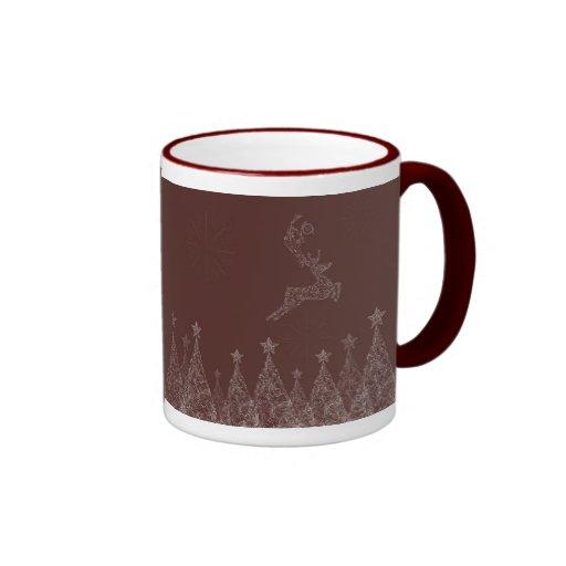 Navidad elegante taza a dos colores