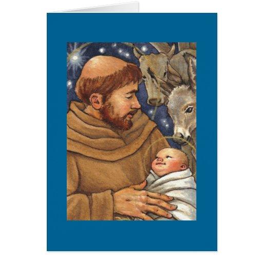 navidad en blanco de St Francis de la tarjeta de