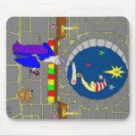 Navidad en el castillo alfombrilla de ratón