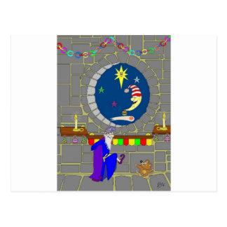 Navidad en el castillo tarjetas postales