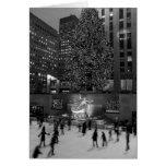 Navidad en el centro de Rockefeller Felicitacion