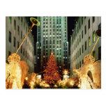Navidad en el centro de Rockefeller Tarjetas Postales