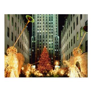 Navidad en el centro de Rockefeller Tarjeta Postal