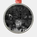 Navidad en el centro de Rockefeller y los Adorno De Reyes
