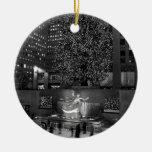 Navidad en el centro de Rockefeller y los Adorno Para Reyes