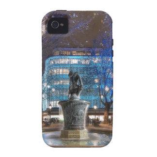 Navidad en el cuadrado de Sloane Case-Mate iPhone 4 Fundas