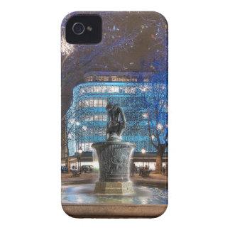 Navidad en el cuadrado de Sloane Case-Mate iPhone 4 Cobertura