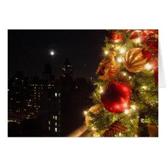 Navidad en el hotel del faro tarjeta de felicitación