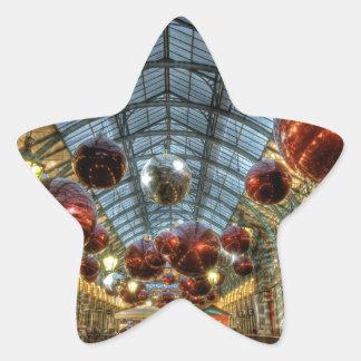 Navidad en el jardín de Covent, Londres Pegatina Forma De Estrella