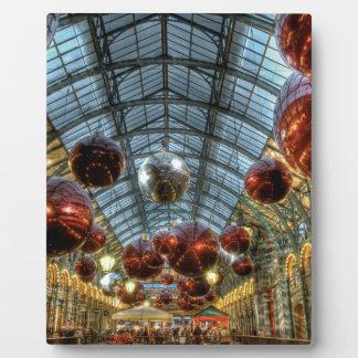 Navidad en el jardín de Covent, Londres Placas Para Mostrar