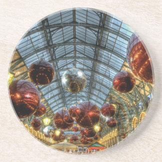 Navidad en el jardín de Covent, Londres Posavasos Personalizados