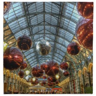 Navidad en el jardín de Covent, Londres Servilleta Imprimida