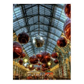 Navidad en el jardín de Covent, Londres Tarjeta Postal