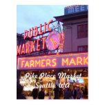 Navidad en el mercado de lugar de Pike Seattle Postal