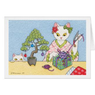 Navidad en el notecard de Japón Tarjeta Pequeña