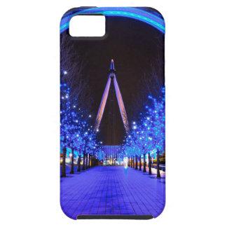 Navidad en el ojo de Londres iPhone 5 Protectores