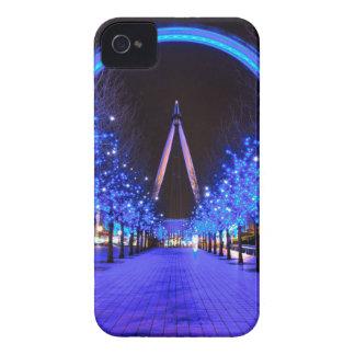 Navidad en el ojo de Londres iPhone 4 Case-Mate Protector