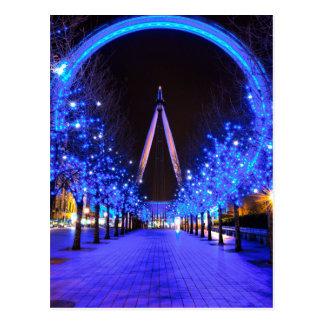 Navidad en el ojo de Londres Tarjeta Postal
