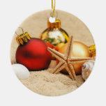 Navidad en el ornamento de la playa ornamento para reyes magos