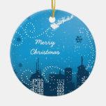 Navidad en el ornamento del personalizado de la ci ornamente de reyes