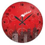 Navidad en el personalizable de la ciudad urbano reloj