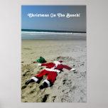 ¡Navidad en el poster de la playa!