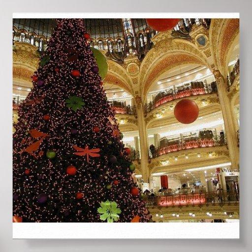 Navidad en el poster de París