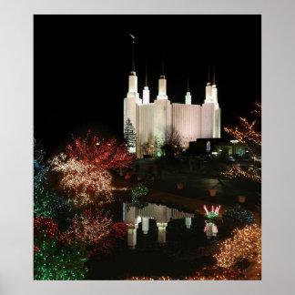 Navidad en el templo del Washington DC Póster
