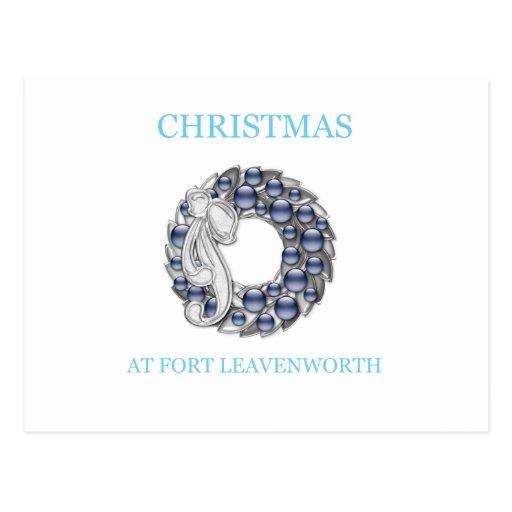 Navidad en Fort Leavenworth 25 Postal