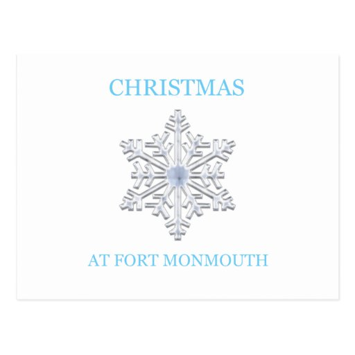 Navidad en Fort Monmouth 15 Postal