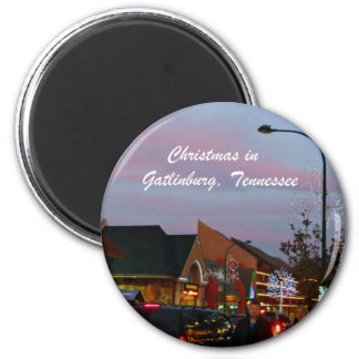 Navidad en Gatlinburg, Tennessee Imán Redondo 5 Cm