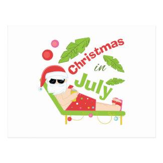 Navidad en julio tarjeta postal