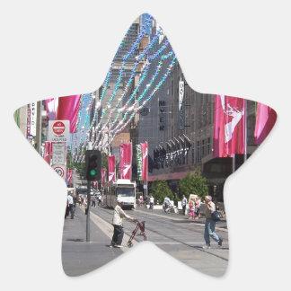 Navidad en la calle de Bourke Pegatinas Forma De Estrellaes Personalizadas