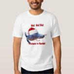Navidad en la camiseta de la Florida Playeras