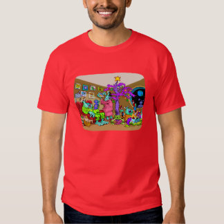 Navidad en la camiseta de Marte Playera