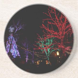 Navidad en la ciudad del dólar de plata posavasos de arenisca