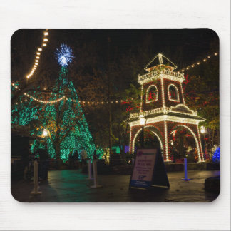 Navidad en la ciudad del dólar de plata tapetes de ratón