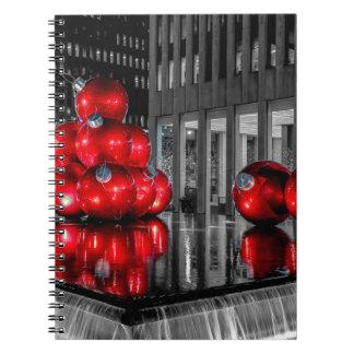 Navidad en la foto de New York City Cuaderno