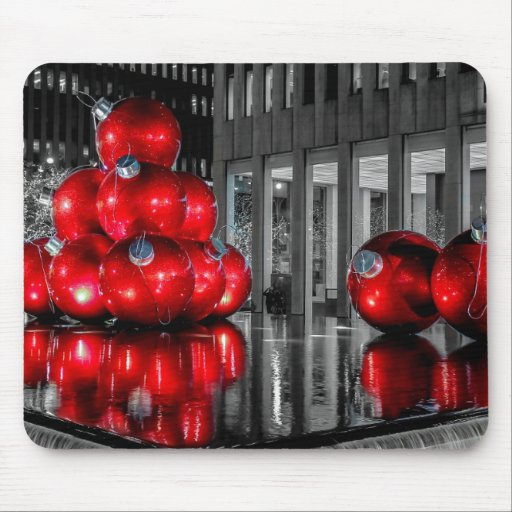 Navidad en la foto de New York City Tapete De Raton