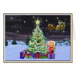 Navidad en la noche tarjetón