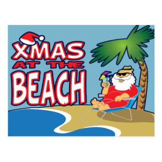Navidad en la Playa-Postal