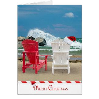 Navidad en la playa tarjeta de felicitación