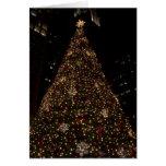 Navidad en la plaza Chicago del Daly Felicitación
