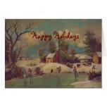 Navidad en la tarjeta de felicitación del vintage